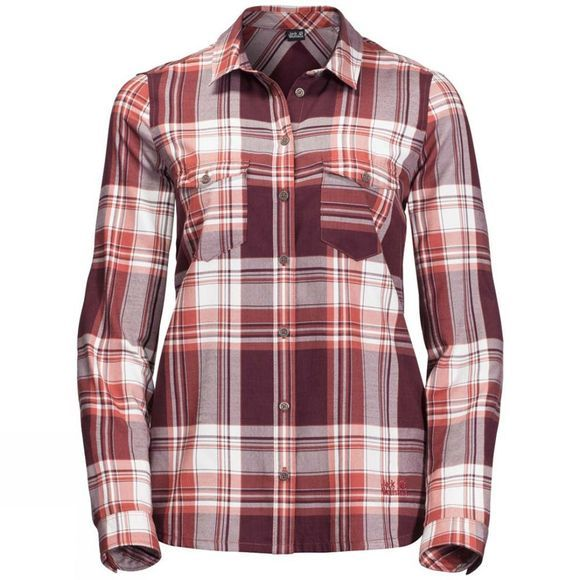 Jack Wolfskin Womens Stalheim Shirt Mexican Pepper Checks