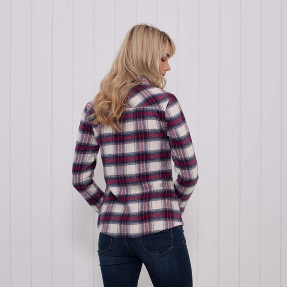 Brakeburn Womens Flannel Shirt Grey