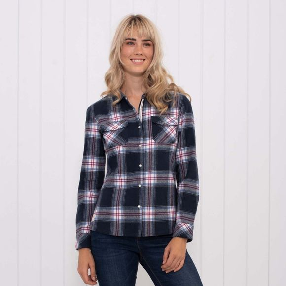 Brakeburn Womens Flannel Shirt Blue