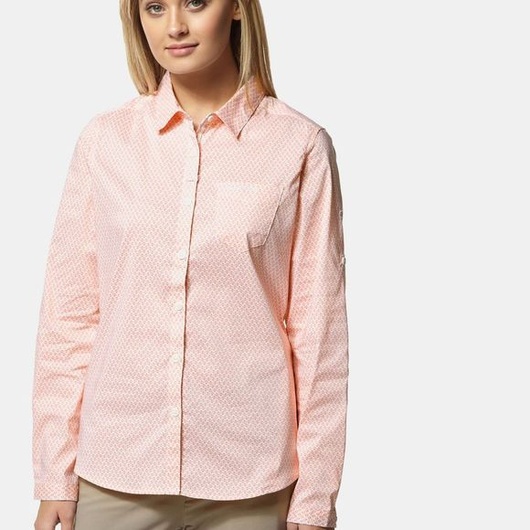 Craghoppers Womens Nosilife Verona Long Sleeve Shirt Rosette Print