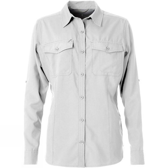 Royal Robbins Women's Expedition L/S Shirt White