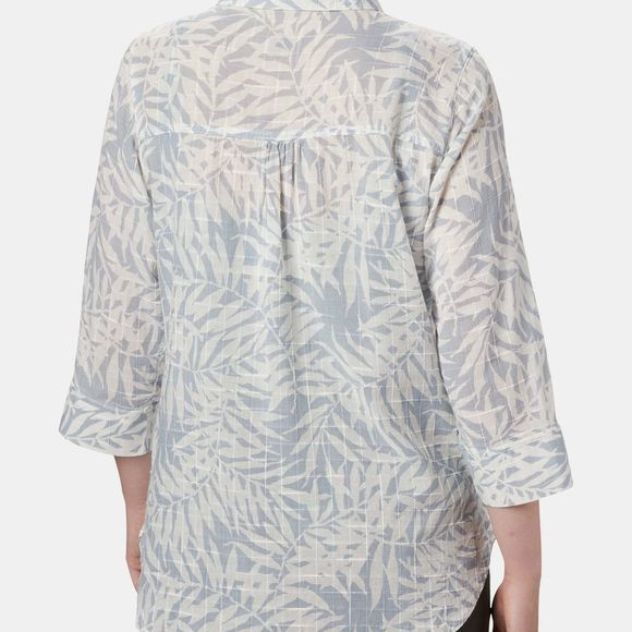 Columbia Womens Summer Ease Popover Tunic Cirrus Grey Wispy Bamboo Print