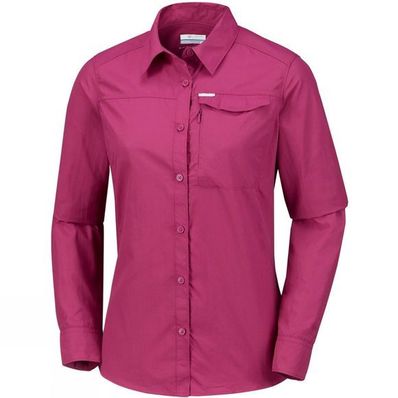 Columbia Womens Silver Ridge 2.0 Long Sleeve Wine Berry