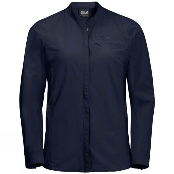 Jack Wolfskin Womens Hilltop Trail Shirt Midnight Blue