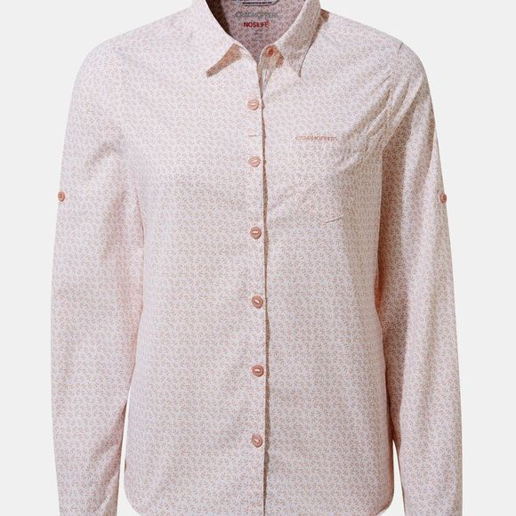 Craghoppers Womens NosiLife Gisele Long Sleeve Shirt Corsage Pink Print