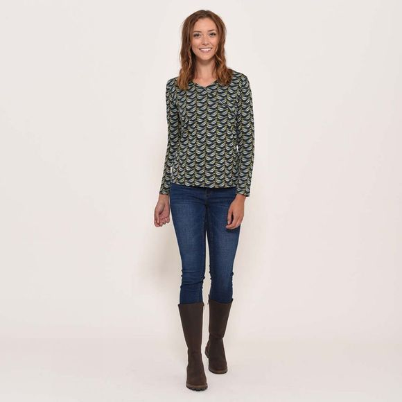 Brakeburn Finch wrap top Forest Green