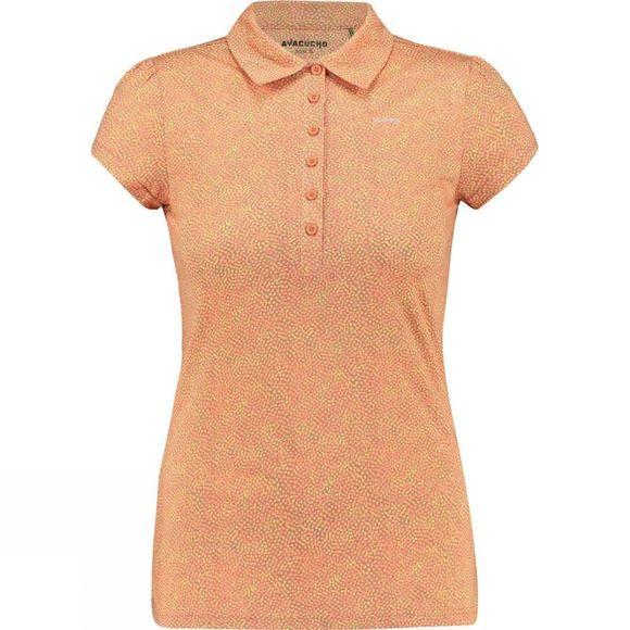 Ayacucho Womens Betty Polo Lots Of Dots Pink/Light Moss