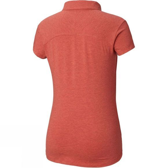 Columbia Womens Shadow Time Polo Red Coral