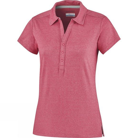 Columbia Women's Shadow Time Polo Red Camellia