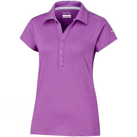 Columbia Womens Shadow Time Polo Bright Lavender