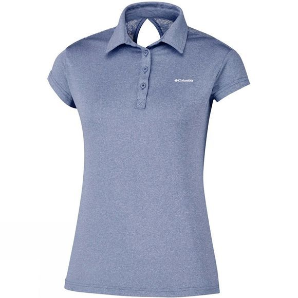 Columbia Womens Peak to Point Polo Bluebell