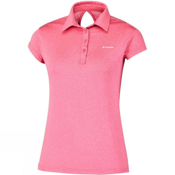 Columbia Womens Peak to Point Polo Red Camellia
