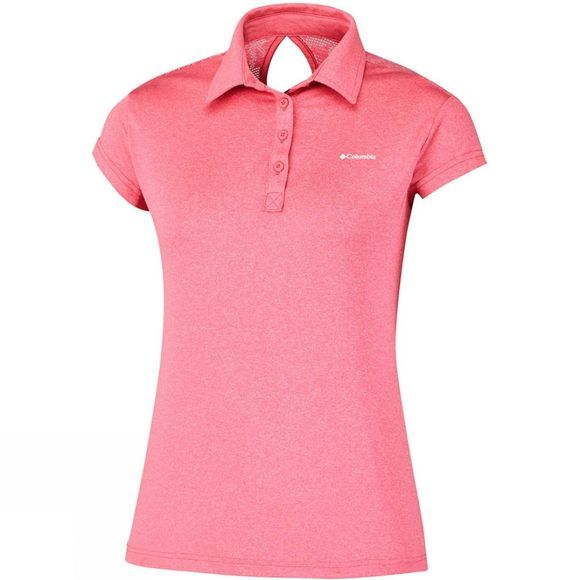Columbia Womens Peak to Point Polo Coral Bloom