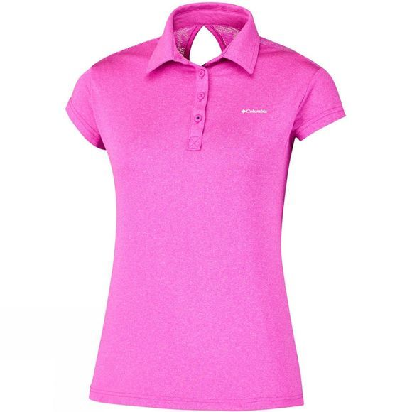Columbia Womens Peak to Point Polo Groovy Pink