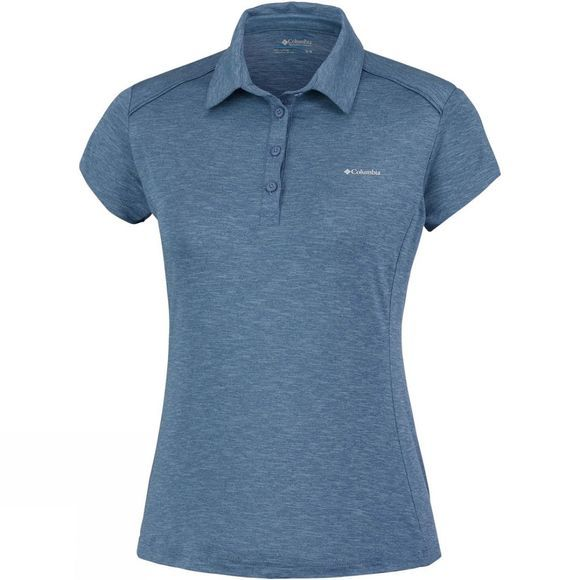 Columbia Womens Firwood Camp Polo Blue Dusk Heath