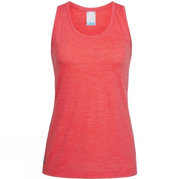 Icebreaker Womens Sphere Tank Top Poppy Red Heather