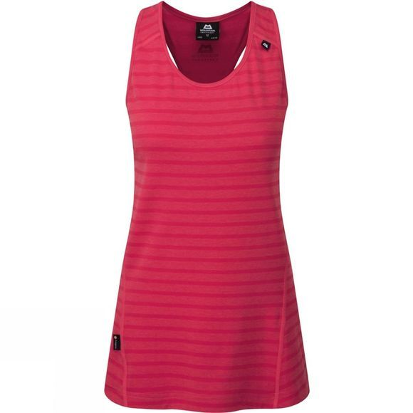 Mountain Equipment Womens Groundup Vest Virtual Pink Stripe