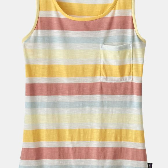 Patagonia Womens Mainstay Tank Top Water Ribbons: Flora Pink