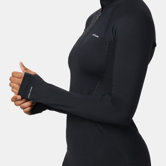 Columbia Womens Midweight Stretch Long Sleeve 1/2 Zip Black