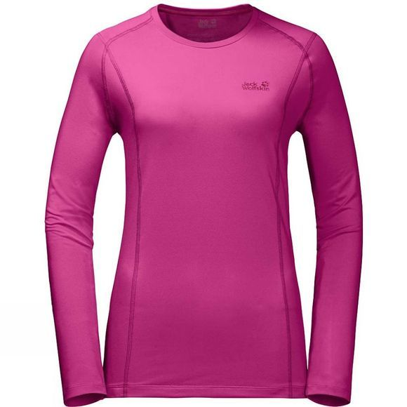 Jack Wolfskin Womens Hollow Range Long Sleeve Top Fuchsia