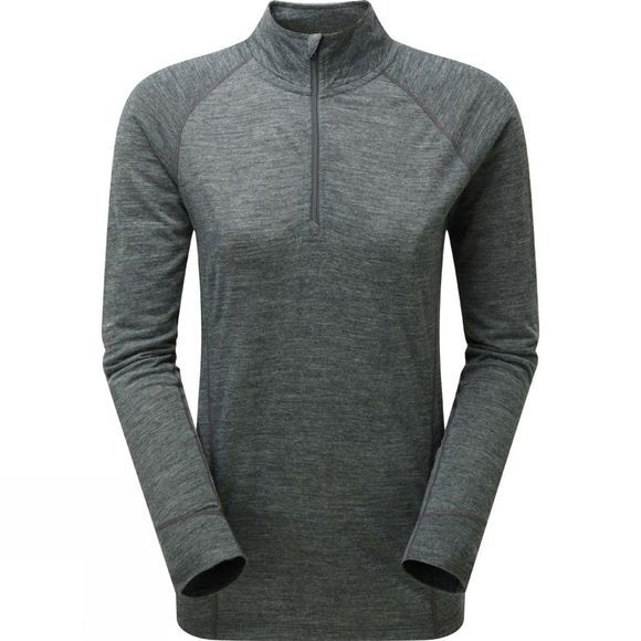Sprayway Womens Kara 1/2 Zip Top Dark Grey Marl