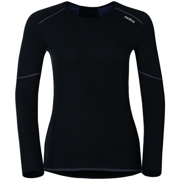 Odlo Womens X-Warm Shirt Long-Sleeve Crew Neck Black