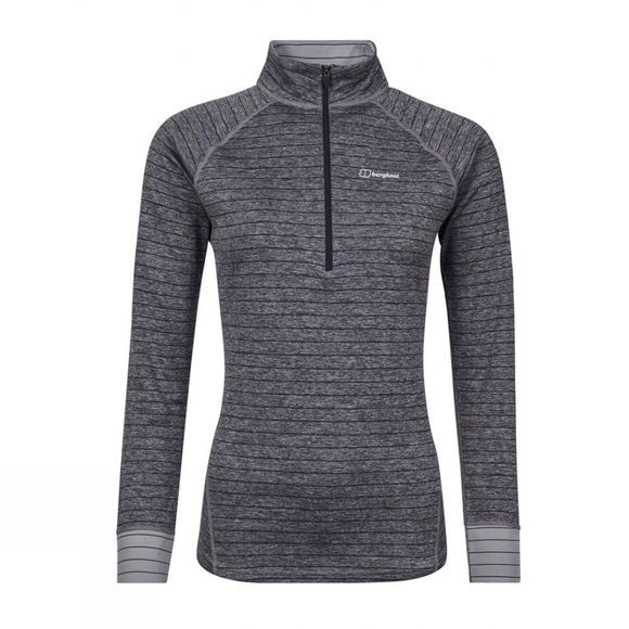 Womens Thermal Tech Tee Long Sleeve Zip Top