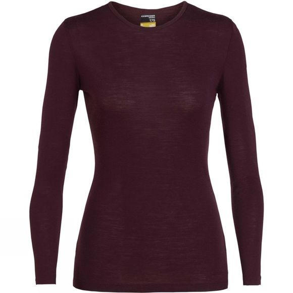 Icebreaker Womens 175 Everyday Long Sleeve Crewe Top Velvet