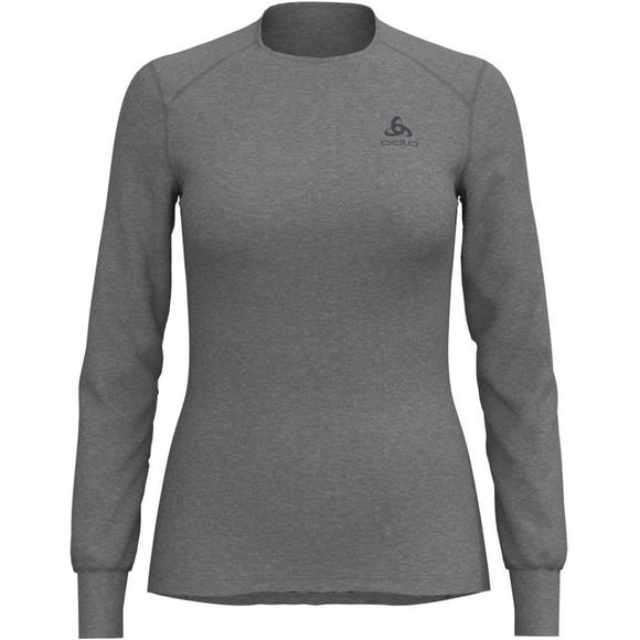 Odlo Womens Original Warm Long Sleeve Crew Grey Melange