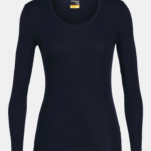 Icebreaker Womens 175 Everyday LS Scoop Top Midnight Navy
