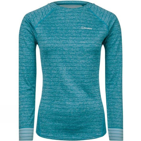 Berghaus Womens Thermal Tech Tee Long Zip Crew Larkspur/Reef Waters