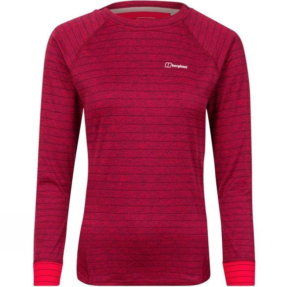 Womens Thermal Tech Tee Long Zip Crew