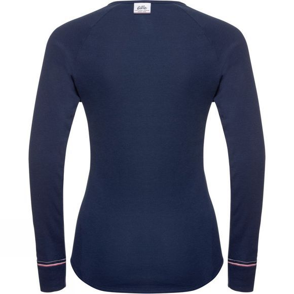 Odlo Womens Active Warm Originals Long-Sleeve Base Layer Diving Navy