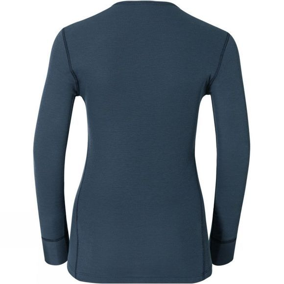Odlo Womens Active Warm Long-Sleeve Base Layer India Ink
