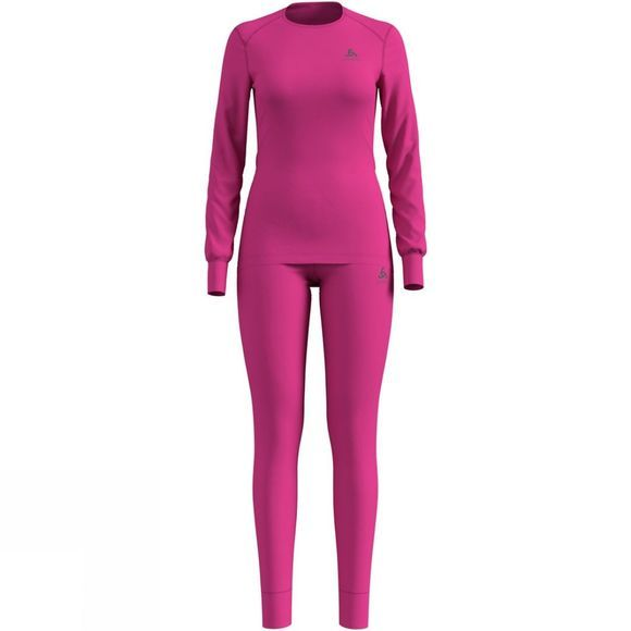 Odlo Womens Active Warm Base Layer Set Beetroot Purple