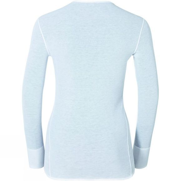 Odlo Womens Active Warm V-Neck Long-Sleeve Base Layer White