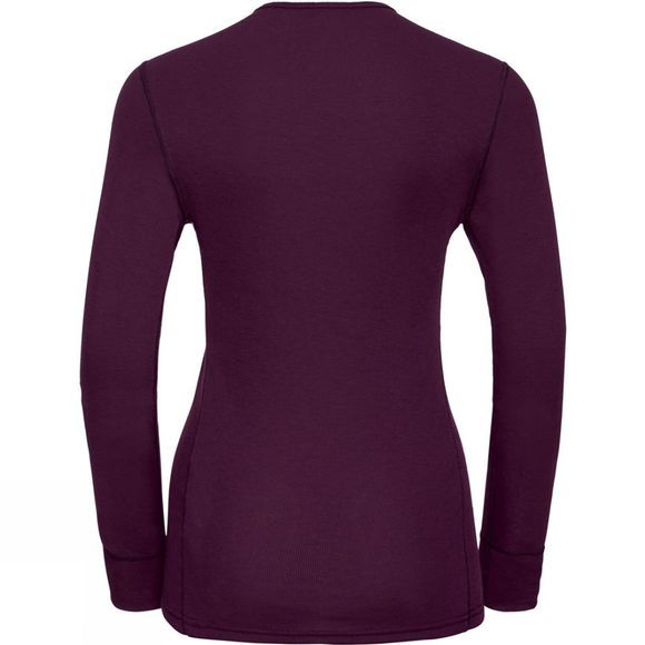 Odlo Womens Active Warm Print Long Sleeve Base Layer Top Pickled Beet