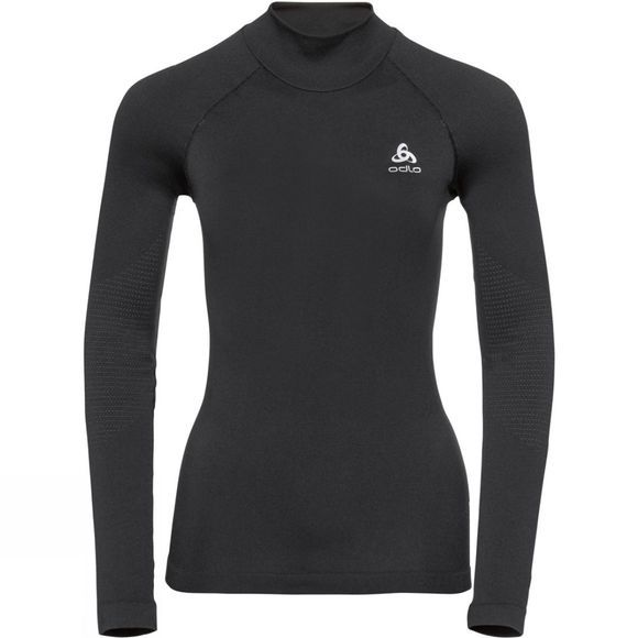 Odlo Womens Ceramiwarm Long-Sleeve Base Layer Top Black