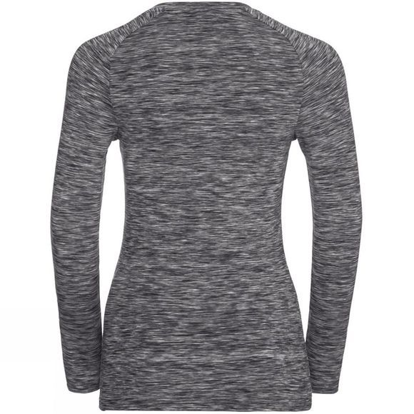 Odlo Womens Sillian Long Sleeve T-Shirt Odlo Concrete Grey Space Dye