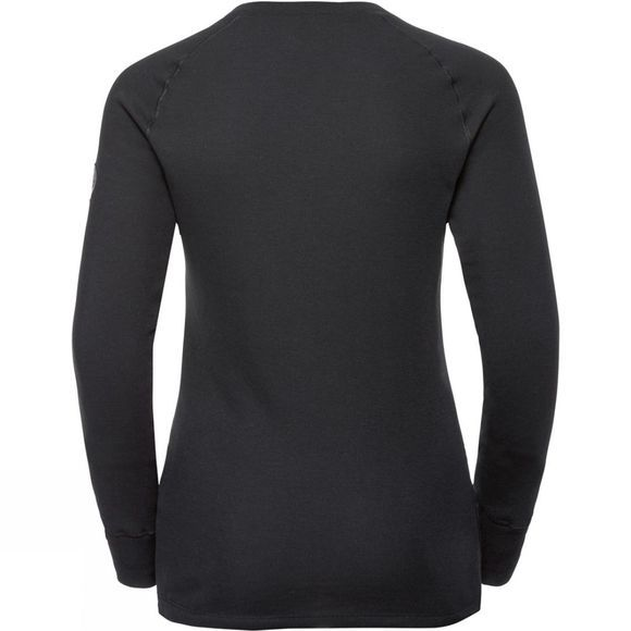 Odlo Womens Henriette Long-Sleeve Base Layer Top Black