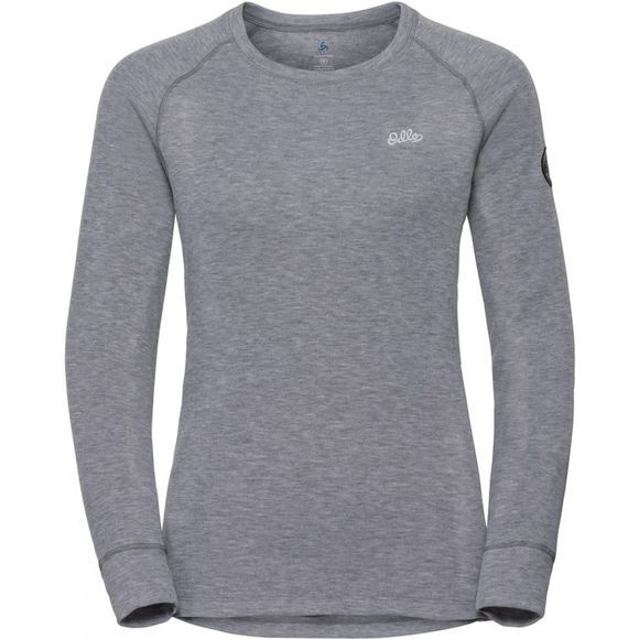 Odlo Womens Henriette Long-Sleeve Base Layer Top Grey Melange