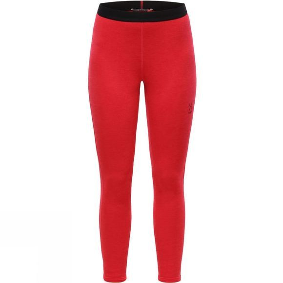 Haglofs Womens Heron Fleece Tights Hibiscus red