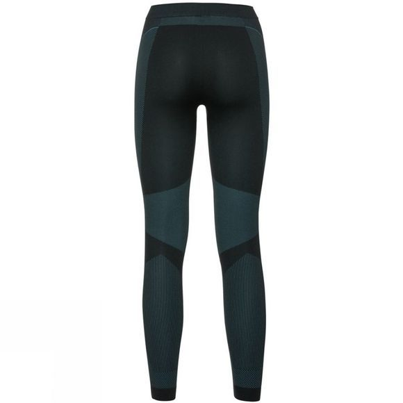 Odlo Womens Performance Windshield Xc Light Base Layer Pants Black - Blue Radiance