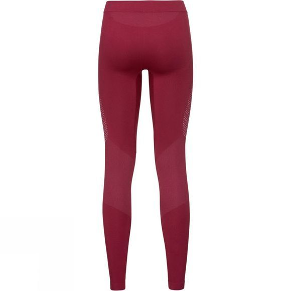 Odlo Womens Performance Essentials Warm Pants Rumba Red - Mesa Rose