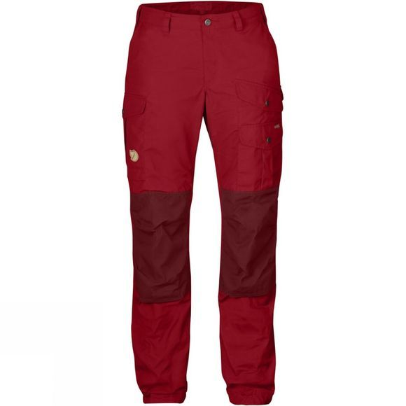 Fjallraven Womens Vidda Pro Trousers Deep Red/Ox Red
