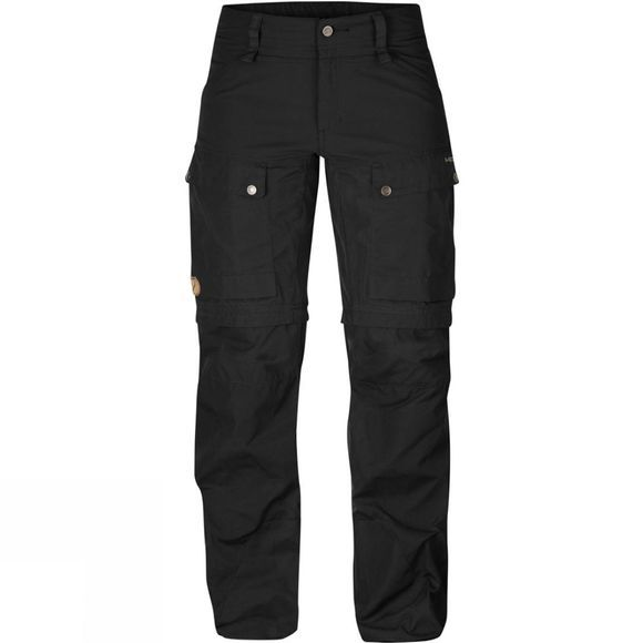 Fjallraven Womens Keb Gaiter Trousers Black-Black