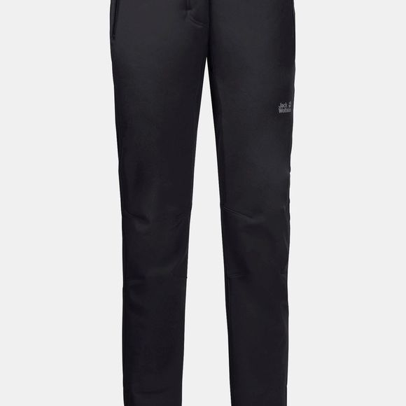 Jack Wolfskin Womens Zenon SoftShell Pants Black
