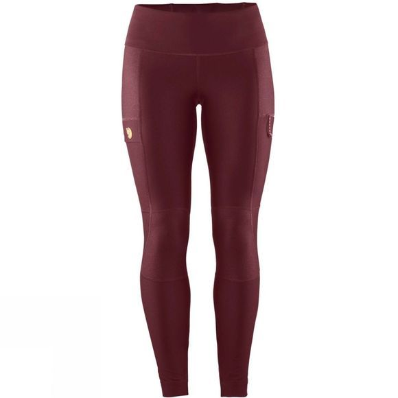 Fjallraven Fjall Womens Abisko Trail Tights Dark Garnet