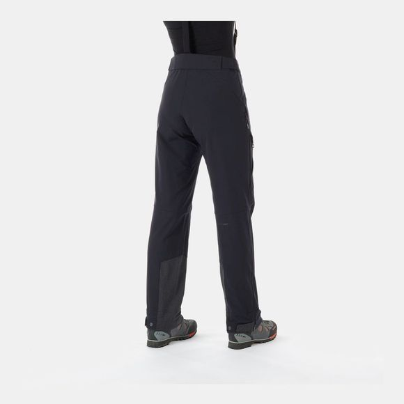 Mammut Womens Base Jump Touring Softshell Pants Black-Phantom