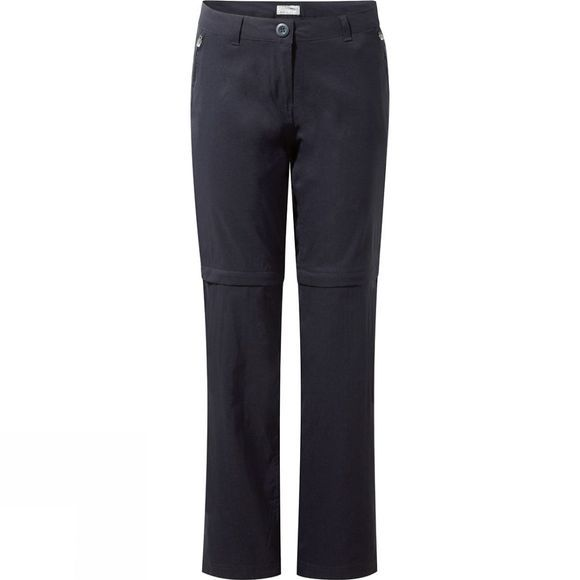 Craghoppers Womens Kiwi Pro Stretch Convertible Trousers Dark Navy